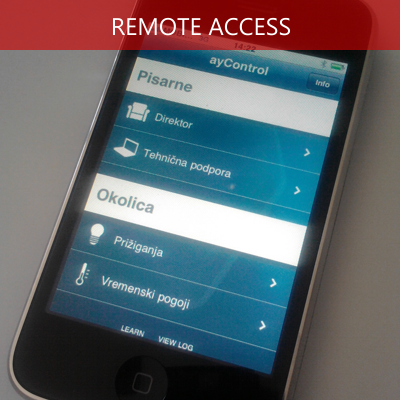 Remote access using iphone