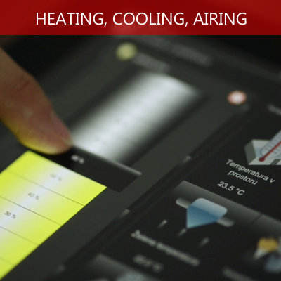 heating, cooling, airing using tablet